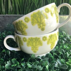 Anthropologie -cottage flora chartreuse cups (2)